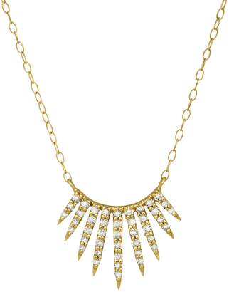 Celine Daoust White Diamond Sun Necklace