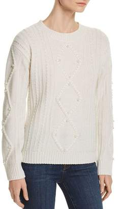 Bloomingdale's C by Embellished Aran-Knit Cashmere Sweater - 100% Exclusive