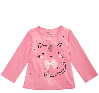 First Impressions Baby Girls Kitty Graphic Cotton Shirt