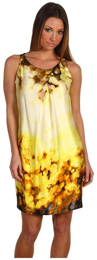 Robert Rodriguez Printed Shift Dress (Citron) - Apparel