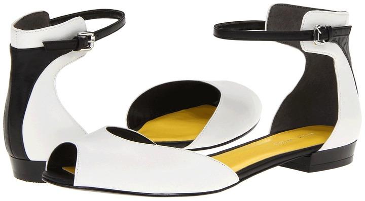 Nine West Joeley (White/Black Leather) - Footwear