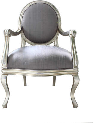 At Notonthehighstreet.com · Out There Interiors French Silver Armchair  Lilac Cover