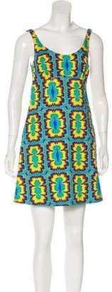 Jeremy Scott Mini Printed Dress w/ Tags Blue Mini Printed Dress w/ Tags