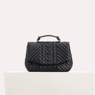 Maje Mini satchel in quilted leather