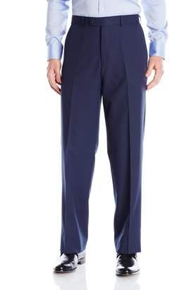 Linea Naturale Men's Flat Front Washable Microfiber Twill Trouser