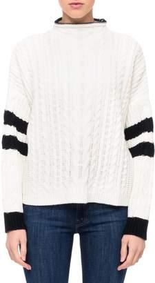 John And Jenn Striped Cable-Knit Sweater