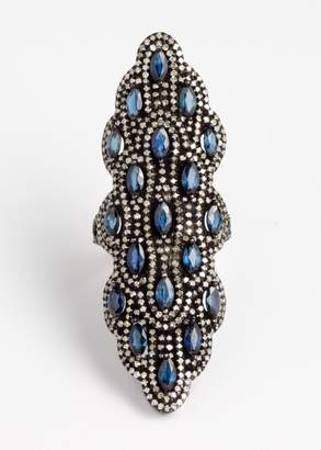 Zynni Vinesh diamonds and sapphire ring (Default)