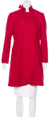 RED Valentino Wool Bow-Accented Coat