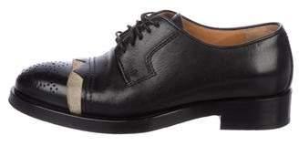 Maison Margiela Leather Low-Top Oxfords