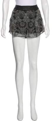 Helmut Lang Printed Mini Shorts