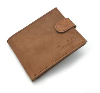 Buono Pelle Rfid Blocking Distressed Leather Wallet Credit Card Holder Purse Gift Brown/Tan