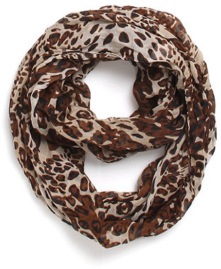 With Love From CA Dark Leopard Infinity Scarf