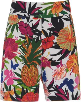Dundas High-Rise Floral Shorts Size: 38