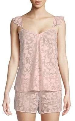 Natori Floral Mesh Camisole and Short Set