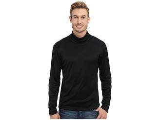 Hot Chillys Peach Solid Roll T-Neck Men's Long Sleeve Pullover