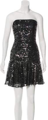 Betsey Johnson Sequined Ruched Dress