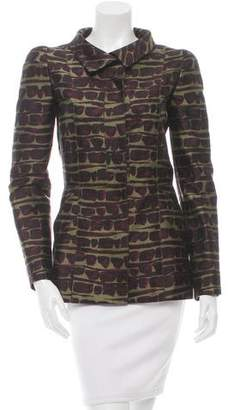 Oscar de la Renta Structured Printed Jacket