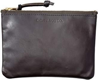 Filson Medium Leather Zipper Pouch