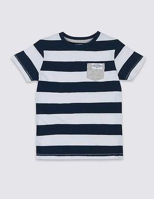 Marks and Spencer Pure Cotton Striped T-Shirt (3 Months - 7 Years)