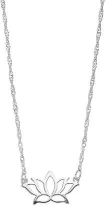 Lauren Conrad Silver Tone Lotus Flower Necklace