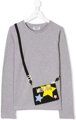 Moschino Kids TEEN crossbody bag print top