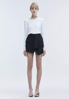 Alexander Wang New Classic Cropped Long Sleeve Tee