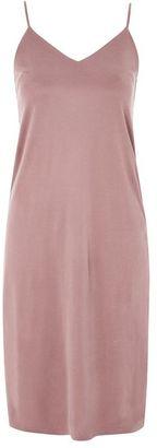 Topshop Cupro slip dress