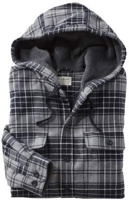 L.L. Bean Men's Fleece-Lined Flannel Hoodie at L.L.Bean