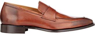 Chip And Pepper CHIP AND PEPPER MEN'S LEATHER APRON-TOE LOAFERS