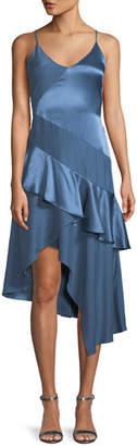 Parker Selma Sleeveless Silk Combo Ruffle Dress