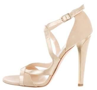 Jimmy Choo Suede Cutout Sandals gold Suede Cutout Sandals