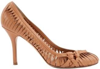 Christian Dior Camel Leather Heels