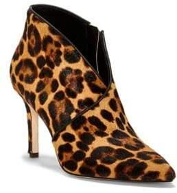Jessica Simpson Layra Leopard-Print Calf Hair Booties