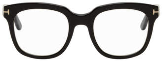 Tom Ford Black Blue Block Thick Square Glasses