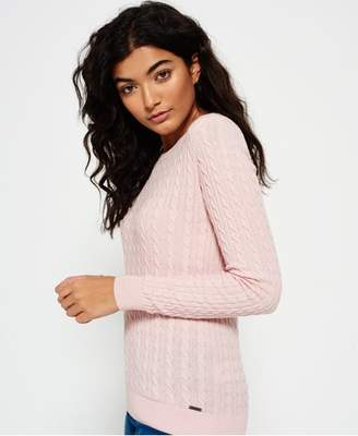 83d67d3f88cadb Superdry Summer Luxe Mini Cable Knit Sweater