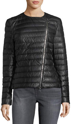 Moncler Palomete Quilted Leather Jacket