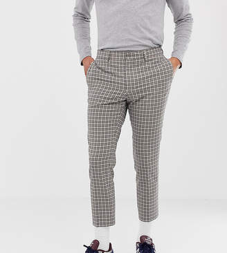 Noak skinny cropped smart trouser in tattersall check