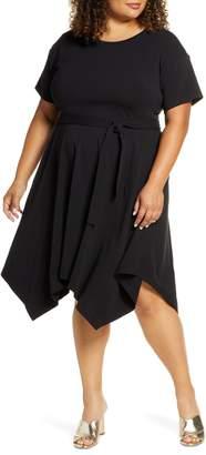 ELOQUII Handkerchief Hem T-Shirt Dress