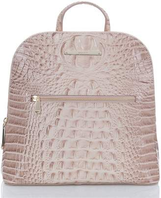 Brahmin Felicity Croc Embossed Leather Backpack
