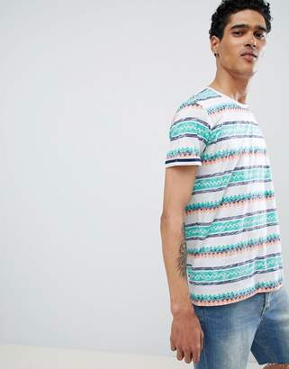 Esprit T-Shirt With ZigZag Stripe