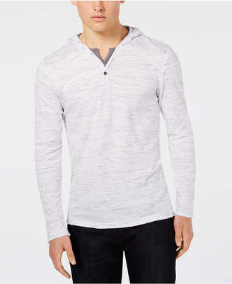 INC International Concepts I.n.c. Men's Knit V-Neck Hooded Shirt, Created for Macy's