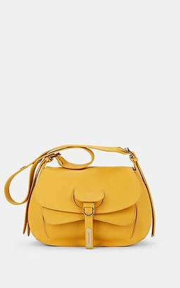 Fontana Milano Women's Wight Lady Leather Saddle Bag - Yellow