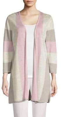 Kasper Suits Colourblock Open-Front Cardigan