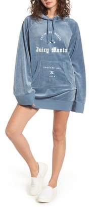 Women's Juicy Couture Juicy Mania Oversize Velour Hoodie Dress