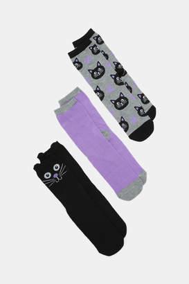 Ardene Cat Crew Socks