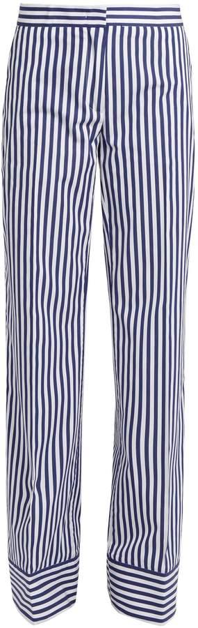 MSGM Striped cotton trousers