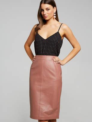 Portmans Australia Leather Pencil Skirt