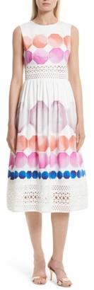 Women's Ted Baker London Serinah Stretch Cotton Midi Dress $465 thestylecure.com