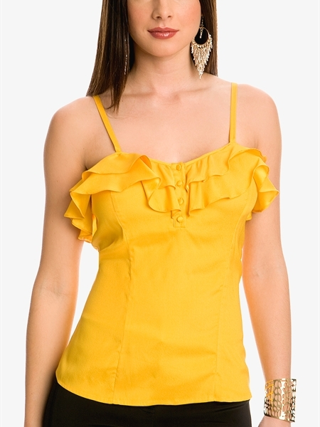 GUESS by Marciano Brianna Ruffle Tank
