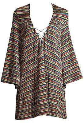 Missoni Mare Raschel Rete Lace-Up Coverup